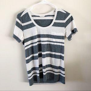 CLUB MONACO | Striped Tee Shirt Sz Small